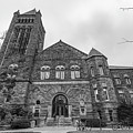 University Of Illinois Law Library Black And White  by John McGraw