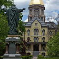 University Of Notre Dame Main Building by Sally Weigand