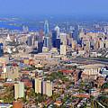 University Of Pennsylvania And Philadelphia Skyline by Duncan Pearson