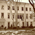 University Of South Carolina President's Residence In Sepia Tones by Skip Willits