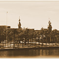 University Of Tampa - Old Postcard Framing by Carol Groenen