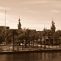 University Of Tampa With River - Sepia by Carol Groenen