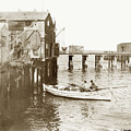 Unloading Small Fishing Boat At Fisherman's Wharf  1920 by California Views Archives Mr Pat Hathaway Archives