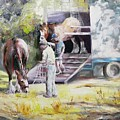 Unloading The Clydesdales by Ryn Shell