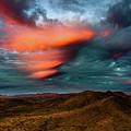 Unusual Clouds Catch Sunset by David Stevens