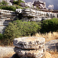 Unusual Rock Formations In The El Torcal Mountains Near Antequera Spain by Mal Bray