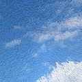 Up In The Clouds Extruded Cloudy Sky  by Susan Vineyard