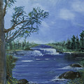 Landscape With Waterfall by Jim McGraw