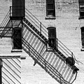 Up The Fire Escape Abstract by Cathy Anderson