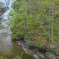 Upper And Middle Falls At Mine Kill State Park by Angelo Marcialis Melody Of Light Photography