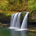 Upper Butte Creek Falls In Autumn by David Gn