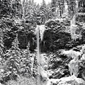 Upper Falls In Snow's Cover by Wes and Dotty Weber
