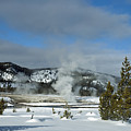 Upper Geyser Basin Area by Cindy Murphy - NightVisions