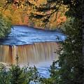 Upper Tahquamenon Falls In October by Kathryn Lund Johnson