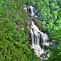 Upper Whitewater Falls Nc Summertime by Lisa Wooten