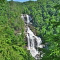 Upper Whitewater Falls North Carolina Summertime by Lisa Wooten