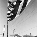 Upraised Flag Support Mlk Day March Tucson Arizona 1991 by David Lee Guss
