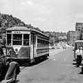 Uptown Trolley Near 193rd Street by Cole Thompson