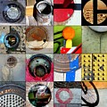 Urban Abstracts Circles by Marlene Burns
