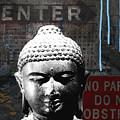 Urban Buddha 4- Art By Linda Woods by Linda Woods