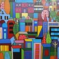 Urban Cityscape 1 by Elizabeth Langreiter