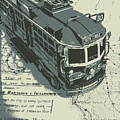 Urban Trams And Old Maps by Jorgo Photography - Wall Art Gallery