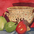 Urn With Pears by Libby  Cagle