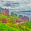 Urqhart Castle In Scotland by Digital Photographic Arts