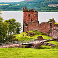 Urquhart  Castle Scotland by Chuck Kuhn