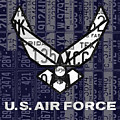 Us Air Force Logo Recycled Vintage License Plate Art by Design Turnpike