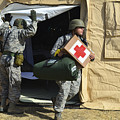 U.s. Air Force Soldier Exits A Medical by Stocktrek Images