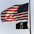 Us And Pow-mia Flags by William Kuta