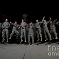 U.s. Army Pilots & Crew Chiefs Jump by Terry Moore