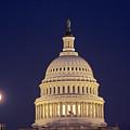 U.s. Capitol Building Lit by Kenneth Garrett