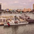 U.s. Coast Guard At Miami - Abstractive by John M Bailey