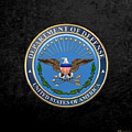 U. S. Department Of Defense - D O D Emblem Over Black Velvet by Serge Averbukh