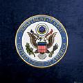 U. S. Department Of State - D O S Emblem Over Blue Velvet by Serge Averbukh