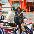 U.s. First Lady Michelle Obama  Plays The Taiko Drum  by Don Kuing
