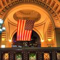 Us Flag - Boston Harbor Hotel by Joann Vitali