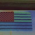 Us Flag On Wall Casa Grande Arizona 2004-2008 by David Lee Guss