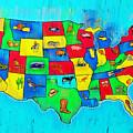 Us Map With Theme  - Free Style -  - Da by Leonardo Digenio