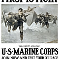 Us Marine Corps - First To Fight  by War Is Hell Store