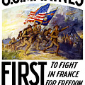 US Marines - First To Fight In France by War Is Hell Store