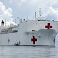U.s. Naval Hospital Ship Usns Mercy by Stocktrek Images
