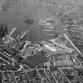 U.s. Naval Yard In Brooklyn Ny Photograph - 1932 by PhotographyAssociates