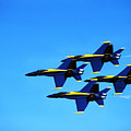 Us Navy Blue Angels Flight Demonstration Team In Fa 18 Hornets by Thomas R Fletcher