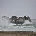 Us Navy Hovercraft by Bridgette Gomes