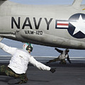 U.s. Navy Sailors Give The Thumbs by Stocktrek Images
