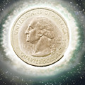 Us One Quarter Dollar Coin 25 Cents by Humorous Quotes