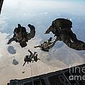 U.s. Pararescuemen And U.s. Marines by Stocktrek Images